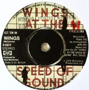 "Wings ‎- Let 'Em In (7"") (G/NM)"